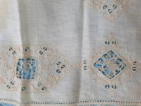 2 Small Pieces of Antique European Linen, Italian Figural Reticella + 2nd in Madeira work. (3 of 7)