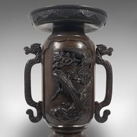 Antique Decorative Vase, Japanese, Bronze, Meiji Period c.1900 (11 of 12)