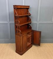 Charming Victorian Mahogany Waterfall Bookcase (9 of 12)