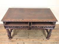 Antique Carved Oak Table (3 of 10)