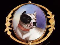 Victorian Enamel Bulldog Brooch (5 of 11)