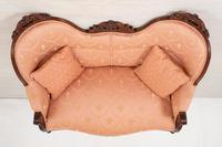 Elegant Victorian Mahogany Settee (8 of 9)