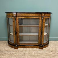 Sensational Figured Victorian Walnut Antique Credenza (8 of 9)