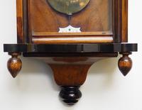 Antique Rocket Cased Single Weight Walnut 8-Day Vienna Regulator Wall Clock (6 of 14)
