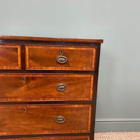 Spectacular Small Georgian Mahogany Antique Chest of Drawers (2 of 6)
