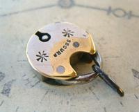 Antique Pocket Watch Chain Fob 1830s Georgian Silver Chrome Chunky Padlock Fob (3 of 6)