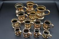 Rare & Attractive Collection of 13 19th Century Brass Pot-bellied Tankards (3 of 3)