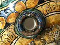 Pair of Fine 20th Century Italian Pottery Sea Horse Romantic Lovers Wine Pitcher Ewer Vases (5 of 12)