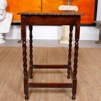 Oak Writing Table Arts & Crafts Side Table Edwardian Slim Petite (4 of 6)