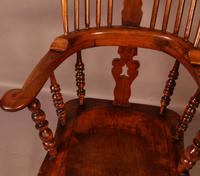 Victorian Broad Arm Windsor Chair Ash & Elm (5 of 9)