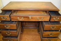 Quality Georgian Mahogany Kneehole Leather Top Desk (5 of 9)