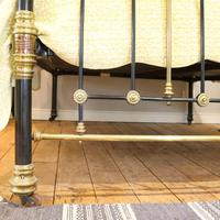 Highly Decorative Cast Iron Antique Bed in Black (7 of 9)