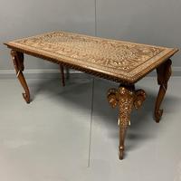 Anglo Indian Inlaid Hoshiapur Coffee Table