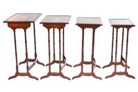 Fine Edwardian Inlaid Mahogany Nest of Quartetto Tables (4 of 6)