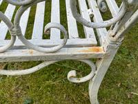 Large French Art Deco Style Fleur De Lis Garden Double Bowed  Curved Bench Seats 3 (29 of 37)