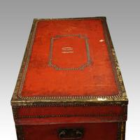 Regency Red Leather Camphorwood Trunk (6 of 8)