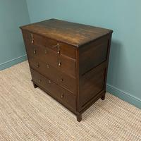 Early 18th Century Country House Antique Oak Chest Of Drawers (7 of 8)