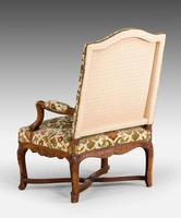 Pair of Well Carved Louis XV Period Fauteuils (3 of 6)