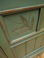 Antique Painted Bohemian Blue Edwardian Sideboard (19 of 22)