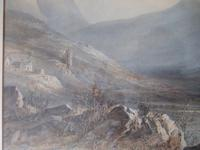 19th Century Watercolour of Mountainous Landscape 'unsigned' (5 of 7)