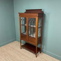Superb Quality Victorian Inlaid Mahogany Antique Display Cabinet (6 of 7)