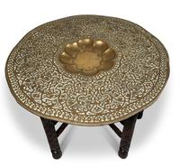 North African Folding Brass Tray Table (3 of 9)