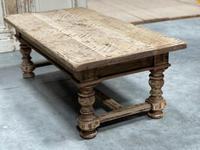 Rustic French Bleached Oak Coffee Table with 2 Drawers (16 of 19)