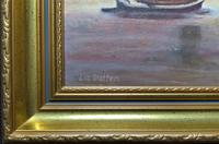 Contemporary, British School - Sailing on the Estuary - Seascape Oil Painting (10 of 11)