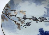 Pinder Bourne Birds in a Tree Display Plate c1880 (4 of 4)