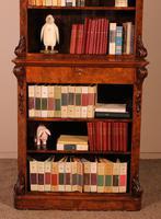 Open Bookcase in Burl Walnut - 19th Century (3 of 13)