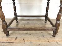 Antique Oak Side Table (m-2295) (11 of 12)
