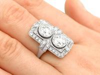 4.84ct Diamond & Platinum Dress Ring - Art Deco - Antique French c.1920 (8 of 9)