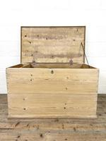 Antique Pine Trunk or Storage Chest (6 of 10)