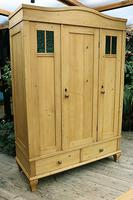 Beautiful Old Pine Triple Knock Down 'Arts & Crafts' Wardrobe  - We Deliver & Assemble! (3 of 18)