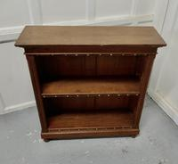 Arts & Crafts Open Oak Bookcase (3 of 5)