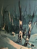 George Richard Deakins Superb Winter Landscape Oil Painting (4 of 11)