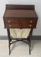 Victorian Mahogany Writing / Sewing Box on Stand