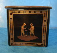 Victorian Italian  Sorento Ware Single Tea Caddy (7 of 16)