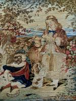 Large Beautiful Framed Original 19thc German Berlin Needlework Tapestry Picture (7 of 15)