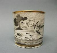 Spode Bat Printed Coffee Can c.1810 (2 of 5)