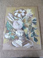 """Circle / Follower of Bloomsbury Group"""" Still Life """" Signed Rob 1946 (3 of 7)"""