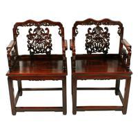 Qing Dynasty Hongmu Throne Chairs (2 of 8)