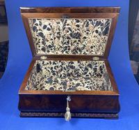 William IV Flame Mahogany Jewellery Box (5 of 20)