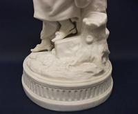 Superb English Parianware Group of a Young Lady Feeding Her Dog a Biscuit, c.1870 (8 of 12)