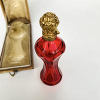 Silver gilt and cranberry scent bottle (5 of 5)