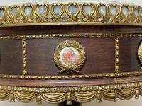 Decorative French Louis Revival Style Marble Top Side Table with Romantic Sèvres Plaques (28 of 38)