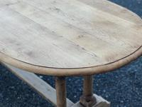 French Bleached Oak Farmhouse Refectory Dining Table (11 of 18)