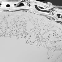 Exceptional Large Solid Sterling Silver Victorian Salver/tray/platter 47cm with Cast Border - Hunt & Roskell - Storr Mortimer & Hunt (21 of 29)