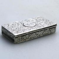 A Superb & Rare Victorian Novelty Solid Silver Vesta Box Lawrence Emanuel C.1888 (2 of 7)