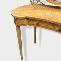French Bleached Kidney Shaper Dressing Table (5 of 6)